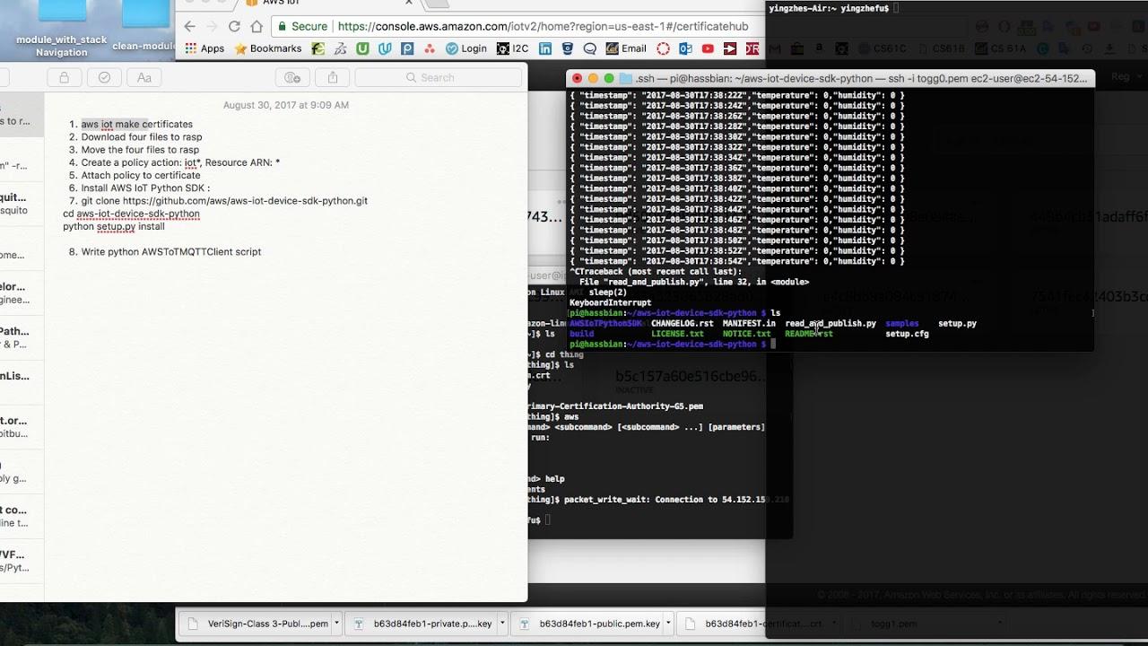 How to Stream Data from RaspberryPi to AWSIoT through MQTT (episode 14)