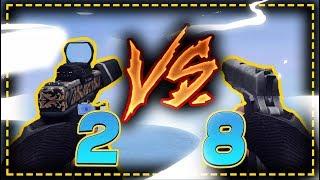 2 GLOCK 18 VS 8 COLT1911 - ZULA