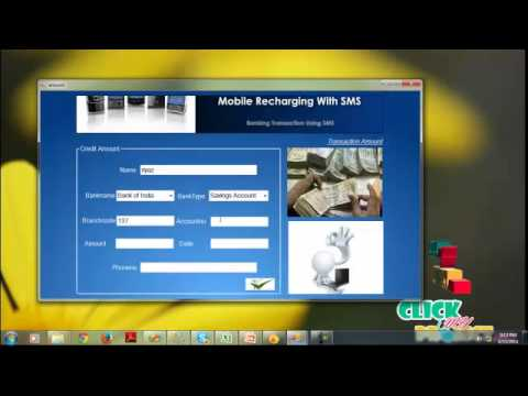 Final Year Projects | Mobile Recharging With Banking Transaction Using SMS