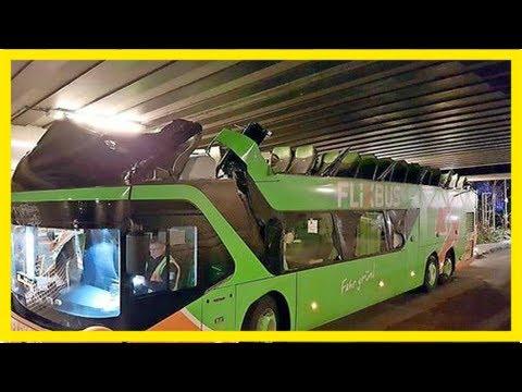 Berlin – brücke zu niedrig: flixbus wird zum cabrio – haz – hannoversche allgemeine