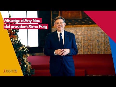 Missatge d'Any Nou del President de la Generalitat, Ximo Puig, accessible per a persones sordes