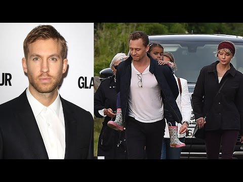 Calvin Harris Pissed Taylor Met Tom's Parents - Calvin Crashes Into Wall & Flips Out At Paps