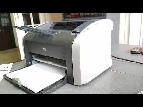 Как узнать пробег принтера (количество напечатанных страниц) на примере HP 1010