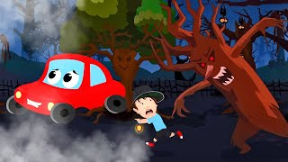 Rừng đáng sợ | Phim hoạt hình halloween | Thơ phổ biến | Little Red Car