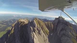 Flight with ATC Zurich - Samedan along the Swiss Alps