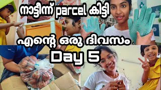 1 week of day in my life|Day 5|Session 5|We got huge parcel from home|Got  organiser|Asvi Malayalam