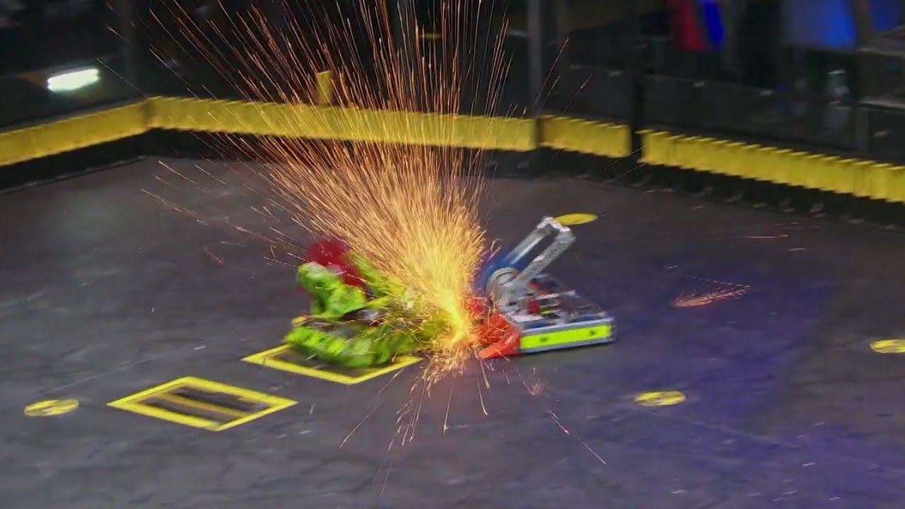 Download Endgame vs Death Roll - Battlebots Season 4 Episode 1 - Bots Fan