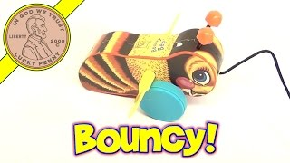 Fisher-price Bouncy Bumble Bee Pull Along Classic Toy, 2009