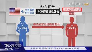 去美國打BNT疫苗 南投婦返台.夫妻都確診|TVBS新聞