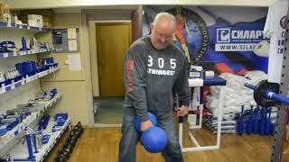 Odd Haugen lifts 78 kg 62 mm handle Silarukov Inch Dumbbell replica