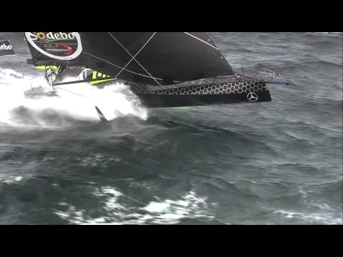 "World on Water Vendee Globe Jan 29 17 Day 84 End of ""Live"", Looking Back, Seb at C Horn"