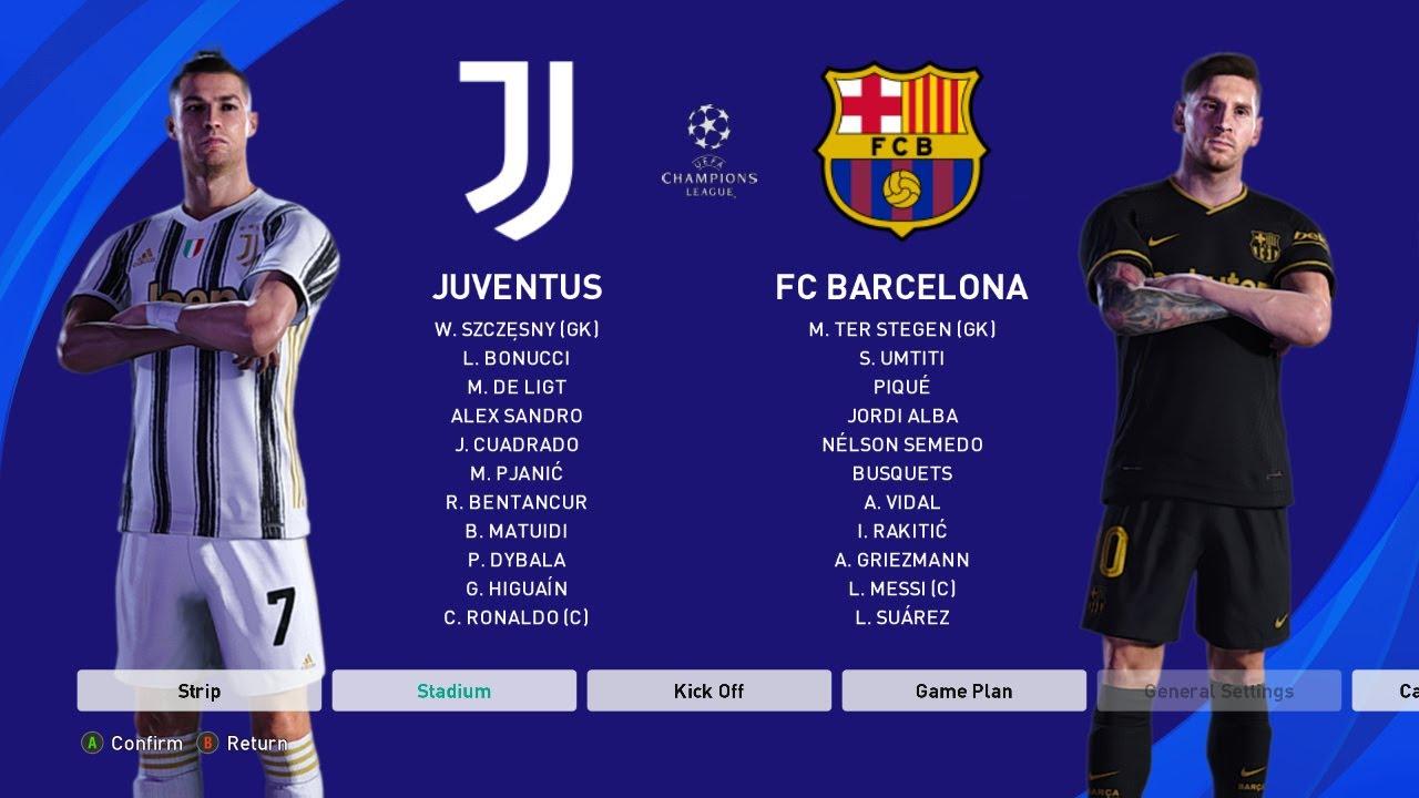PES 2021 - Juventus vs Barcelona - UEFA Champions League ...