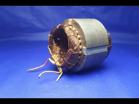 free energy electricity by Using DC motor generator at home -  experiment 2018