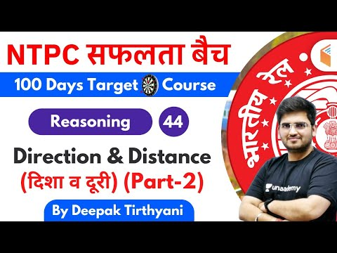 10:15 AM - RRB NTPC 2019-20 | Reasoning by Deepak Tirthyani | Direction & Distance