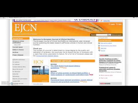 european journal & clinical nutrition