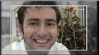 David tennant watches his first episode of doctor who, the christmas invasion, at home with family in december 2005.