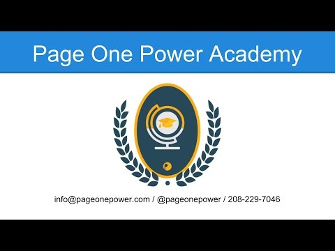 Page One Power Academy: Site Mining Best Practices