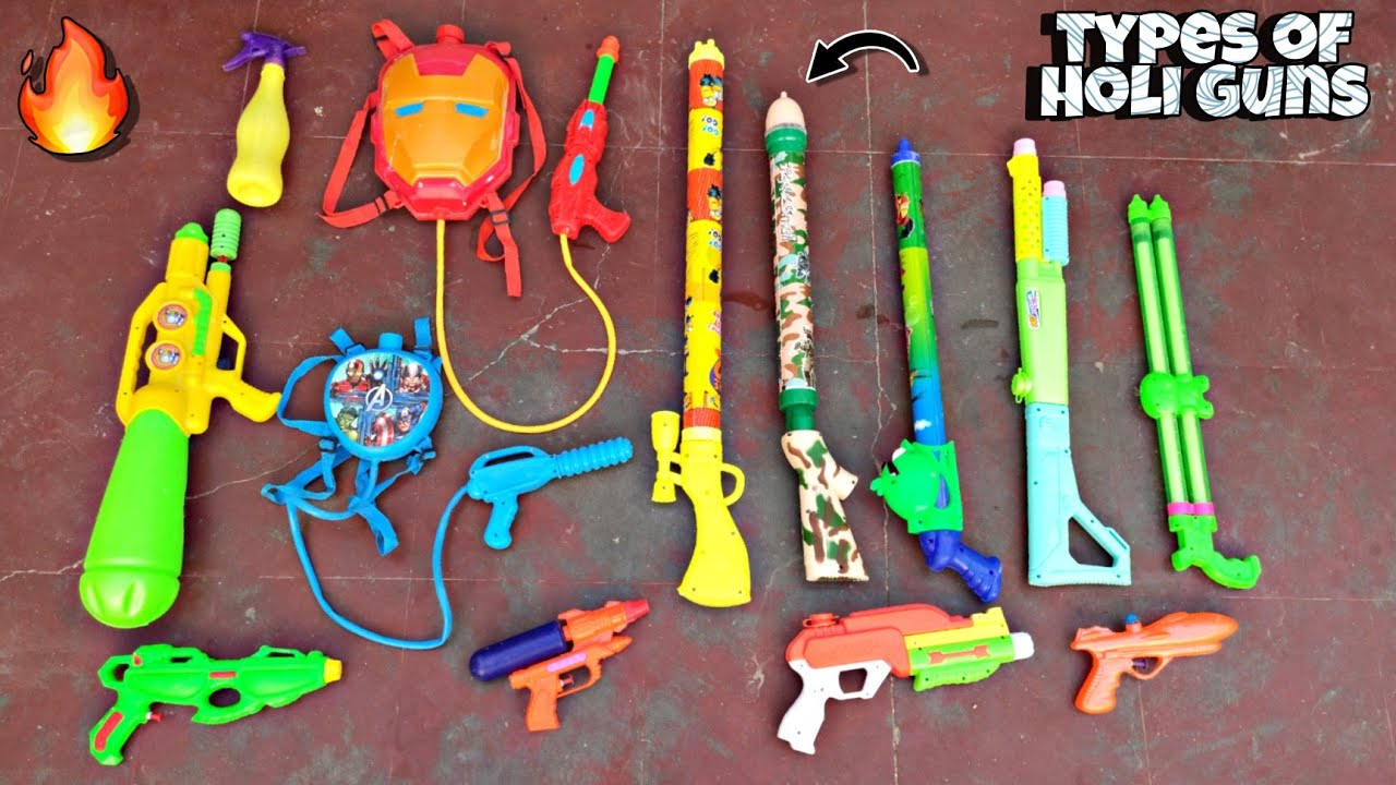 Different Types Of Holi Waterguns | Holi Pichkari Testing | Holi Pichkari 2021