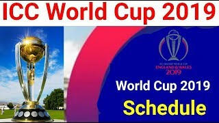 Icc World Cup 2019 Schedule | All Teams,Fixtures,Venue And Timetable_Talib Sports