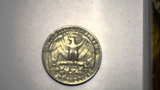 Quarter American Dollar 1984 metal