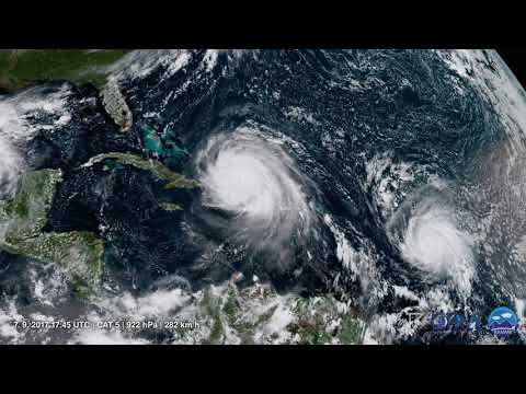 Hurricane Irma | GOES-16 GeoColor | 2.9. - 11.9.2017 | 4K