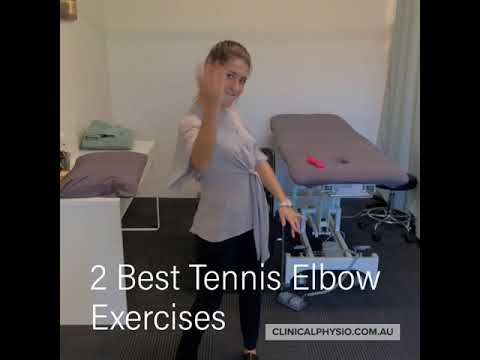 "2 Easy Exercises for ""Tennis Elbow"" (Lateral Elbow Extensor Tendinopathy)."