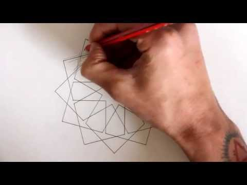 How to draw geometric design - full tutorial