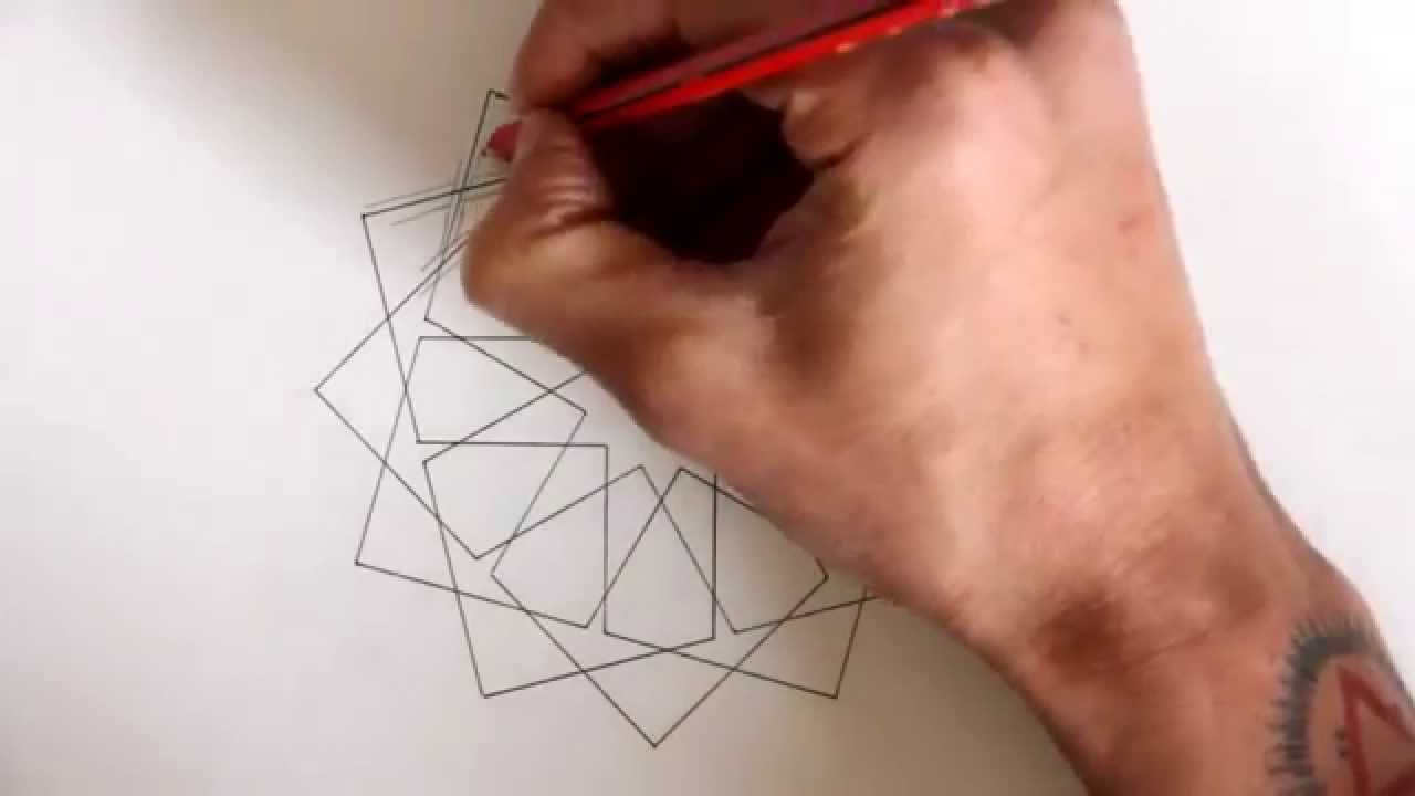 How to draw geometric design - full tutorial - YouTube
