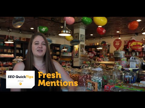SEO Quick Tips : Fresh Mentions with Page One Power