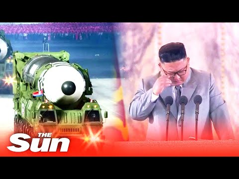 Kim Jong-un CRIES as boasts North Korea has 'zero' coronavirus cases at military parade