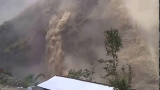 Nepal Earthquake April 25 2015 - Mountains collapse one after another