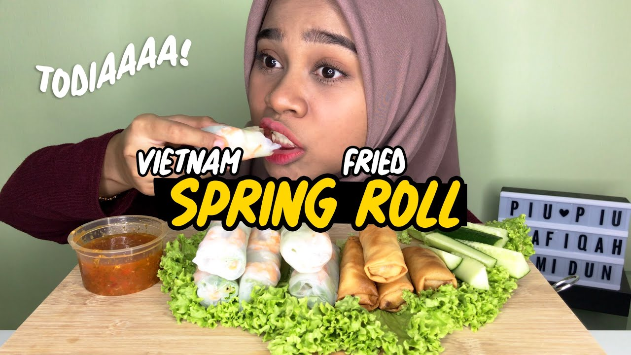 VIETNAMESE SPRING ROLL & FRIED ROLL   Eating Show MALAYSIA