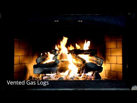 Vented Gas Logs - CountryStoveandPatio.com