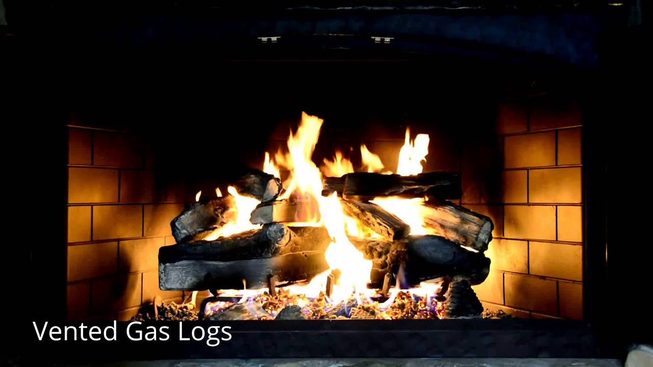 vented gas logs countrystoveandpatio com youtube