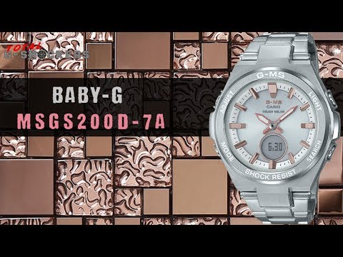 [new!]-ladies-casio-baby-g-g-ms-stainless-silver-&-pink-tone-watch-|-msgs200d-7a-top-10-review