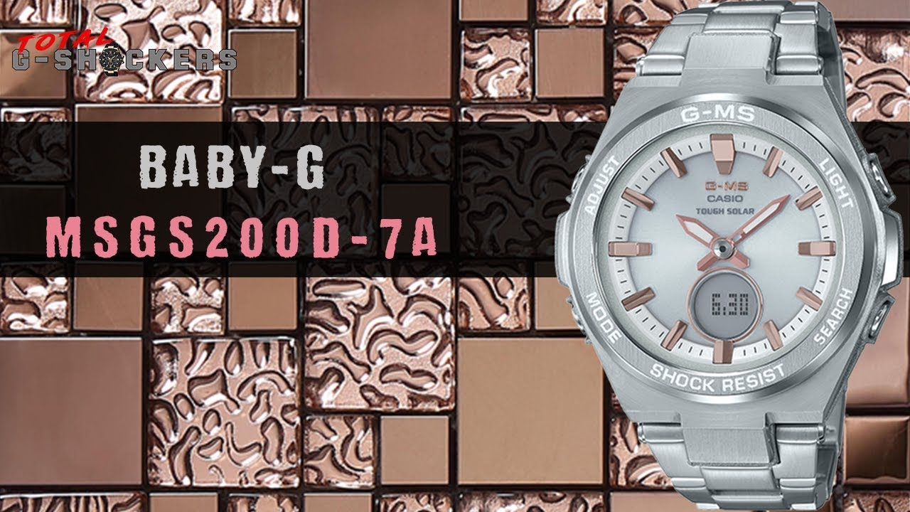 f661f9c3999c NEW!  Ladies Casio BABY-G G-MS Stainless Silver   Pink Tone Watch ...