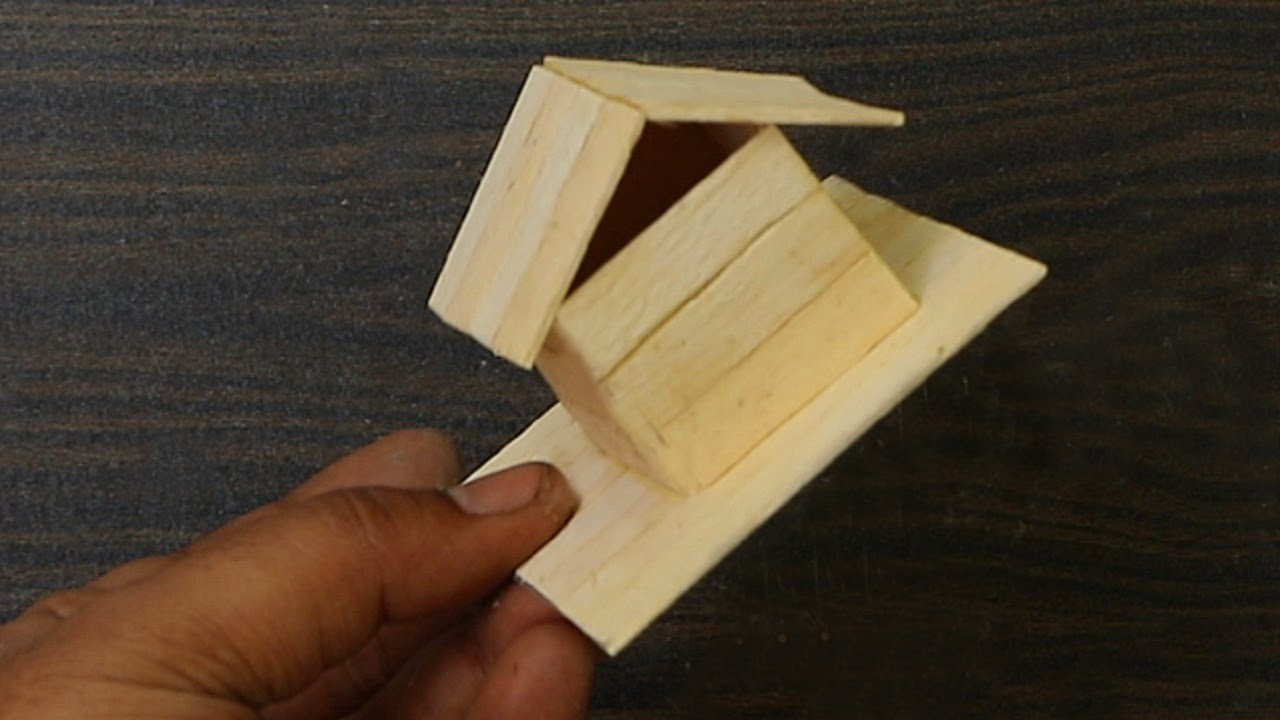 How to make a bird house - How To Make Popsicle Stick Bird House Wooden Bird House