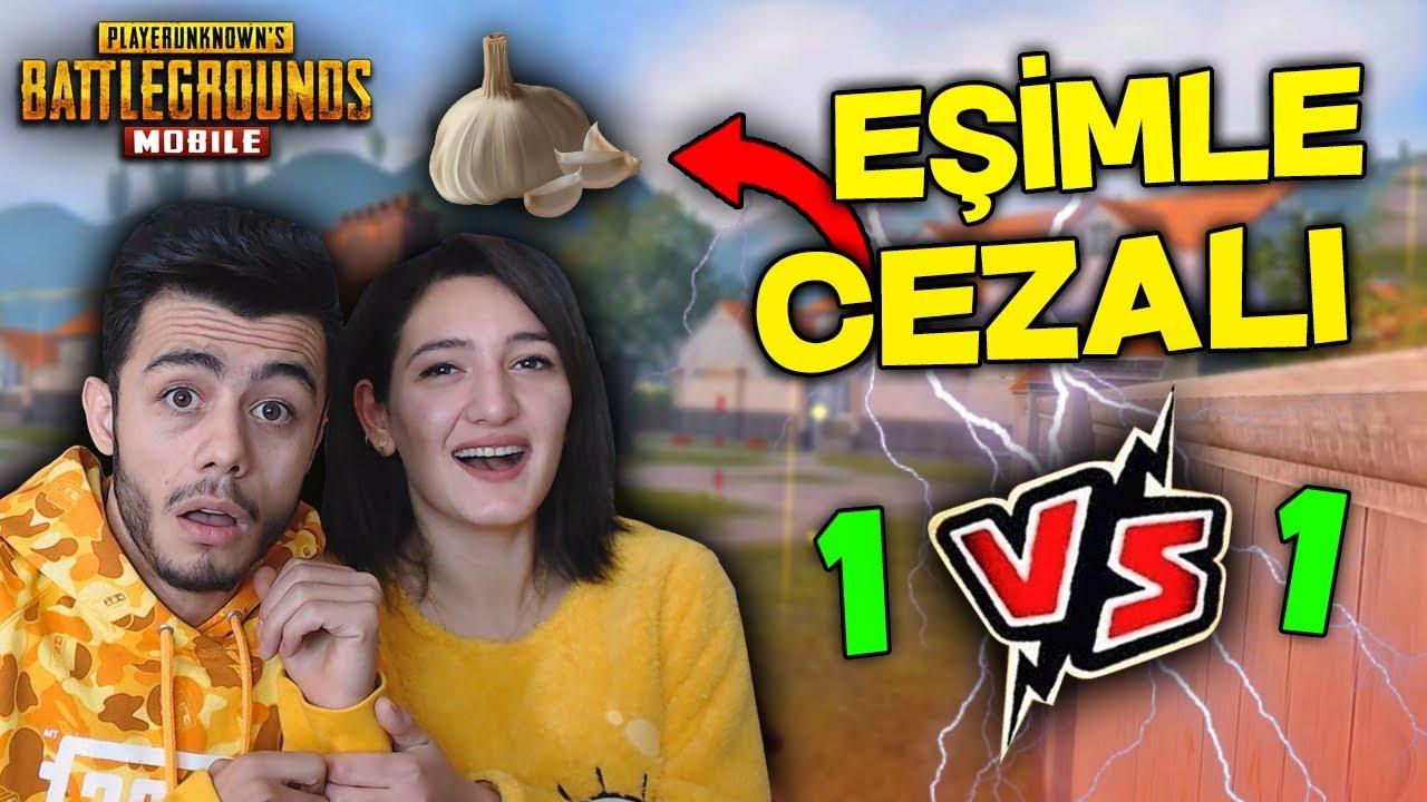EŞİMLE SARIMSAK CEZALI VS ATTIK ! (HİLE YAPTIM) - PUBG Mobile