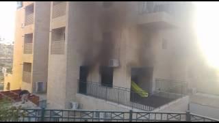 שריפה בבניין מגורים בביתר