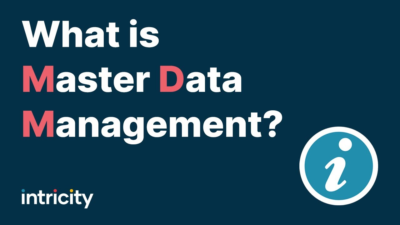 What is Master Data Management YouTube – Master Data Specialist