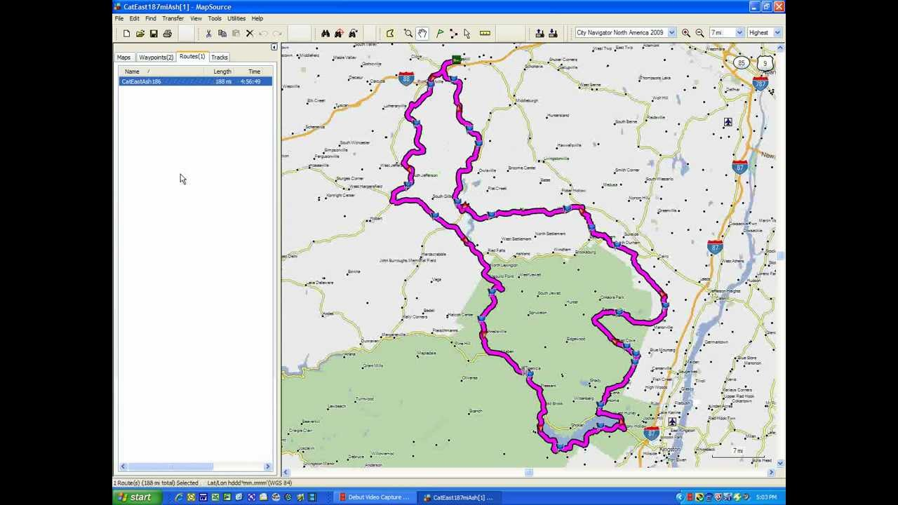 garmin mapsource  using someone else's route in your gps. garmin mapsource  using someone else's route in your gps  youtube