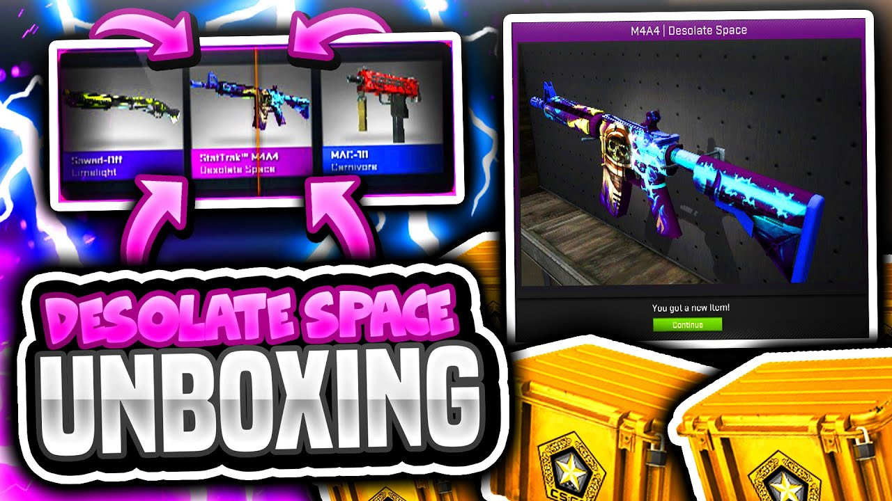 DESOLATE SPACE UNBOXINGS AND TRADE UPS (CS GO Gamma Case