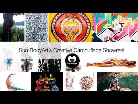 SumBodyArt's Creative Camouflage Showreel- BodyPainting in Australia, Europe & Beyond