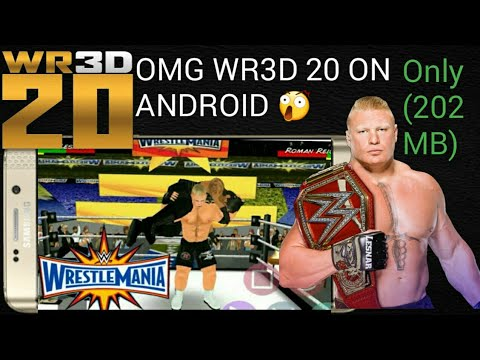 #wr3d20 #wwe2k20 #TGB How to download wr3d 20 mod on android | wwe 2k20  download apk mod | 200mb