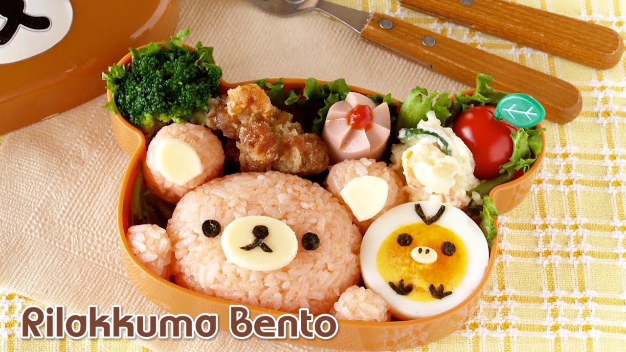 how to make rilakkuma bento lunch box ochikeron create eat happy youtube. Black Bedroom Furniture Sets. Home Design Ideas