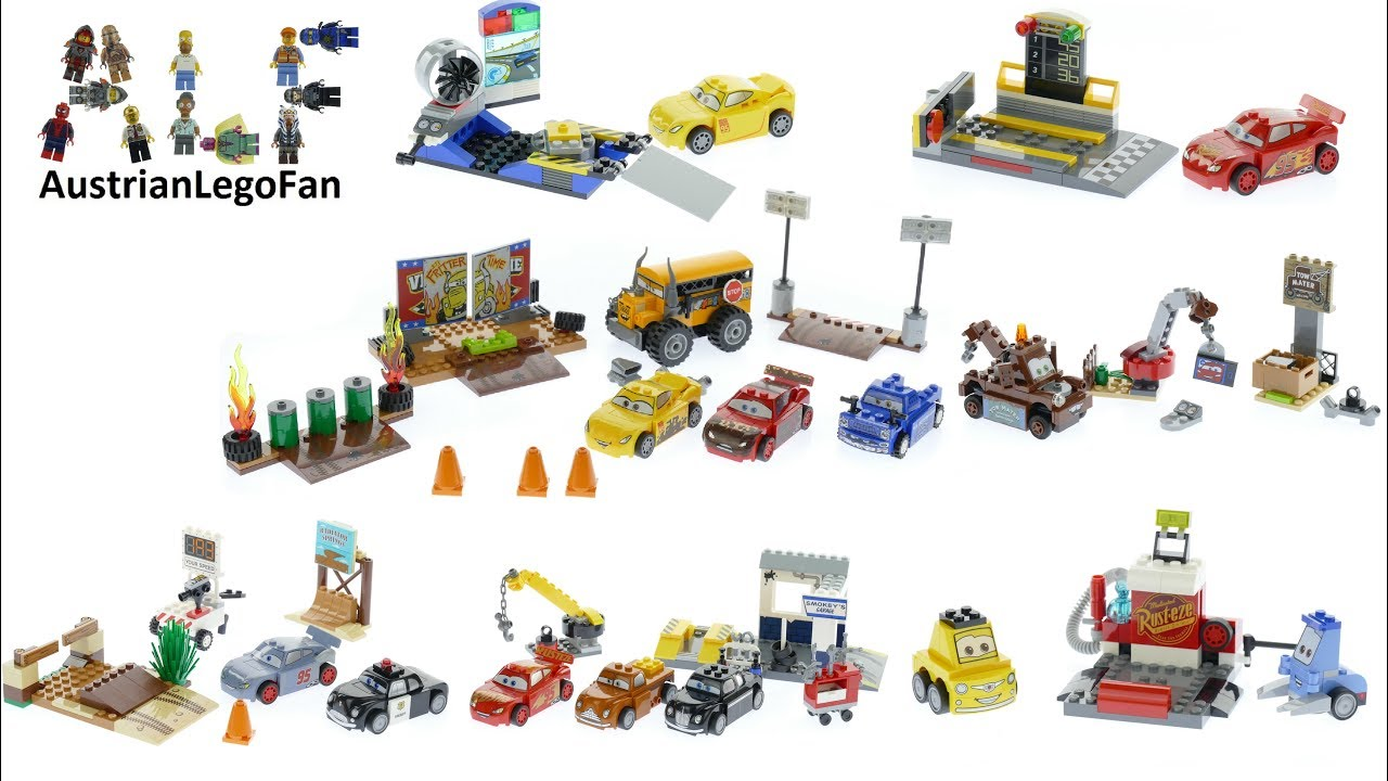 All Lego Juniors Cars 3 Sets 2017 Lego Speed Build Review Youtube