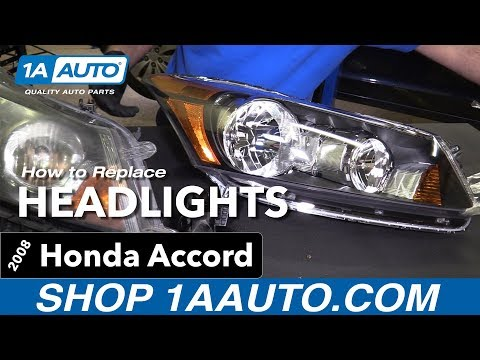 How to Replace Headlights 08-12 Honda Accord