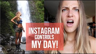 Instagram controls my day + what I eat! | plant based vegan |