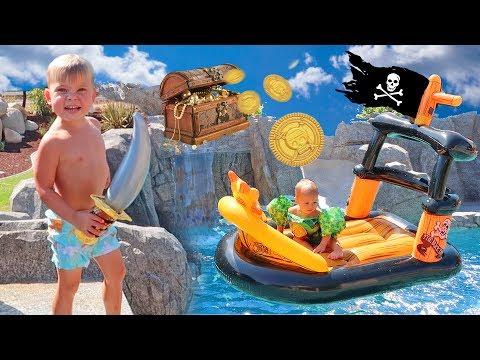PIRATE SHIP POOL PARTY SURPRISE! ⚓️ Captain Jake Returns!