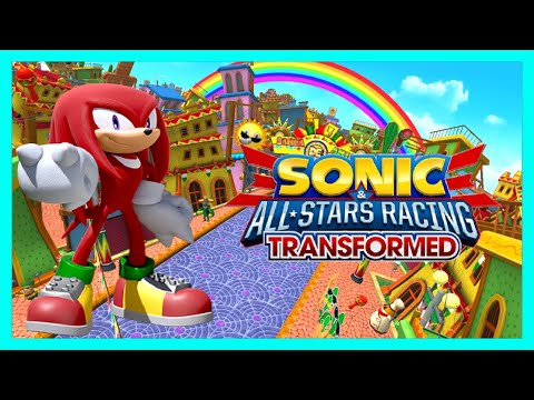 Knuckles plays Sonic All-Stars Racing Transformed! |